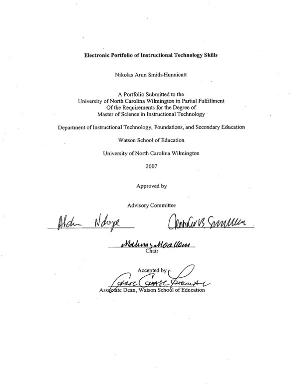 Dissertation signature page